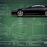 Aston Martin DB9 2009 Blueprint