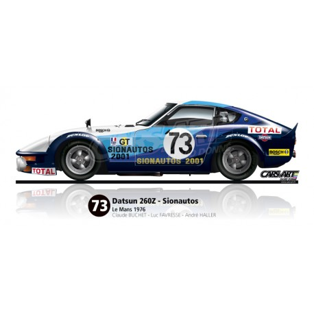 datsun nissan 260z le mans 1976 cars art shop by david donne. Black Bedroom Furniture Sets. Home Design Ideas