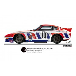 Datsun/Nissan 240ZG GC TS/HS30H - 300 mile Fuji 1972 vainqueur (Haruhito Yanagida)