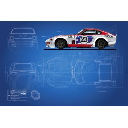 Blueprint Nissan Fairlady 240ZG HS30 1972 Omori Factory