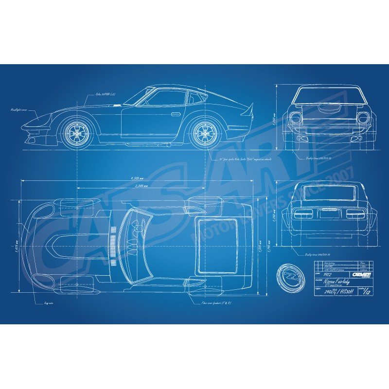 Nissan Fairlady 240ZG HS30H Race Car Blueprint. Loading Zoom