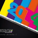 Bonne année (colorée) 2014