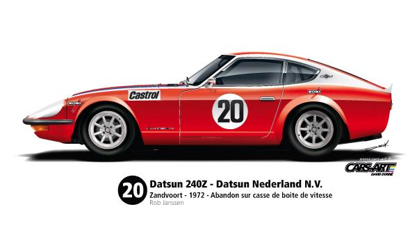 Profil-Datsun-240z-Zandvoort-1972-n°20-Rob-Janssen-600px-Cars-Art