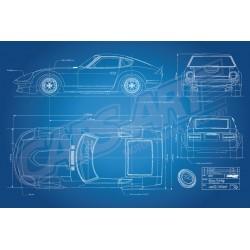 Nissan Fairlady 240ZG HS30H race car blueprint